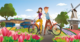 The Tulip Tour: biking or hiking route along the tulip fields