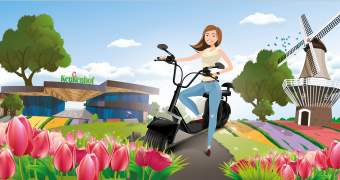 Experience the Tulip Tour with an electric scooter