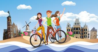 Flower Tour fietsroute zomer